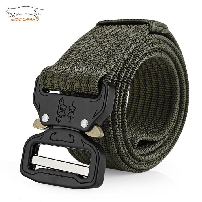 Edcgear Military Tactical Belt Mens Heavy Duty Army Combat Nylon Belts Strap-Monka Outdoor Store-Army Green-Bargain Bait Box
