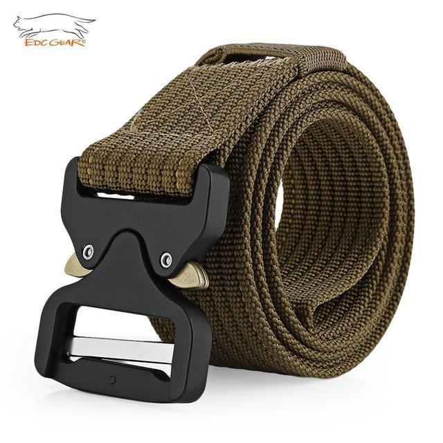 Edcgear Military Tactical Belt Mens Heavy Duty Army Combat Nylon Belts Strap-Monka Outdoor Store-Deep Brown-Bargain Bait Box
