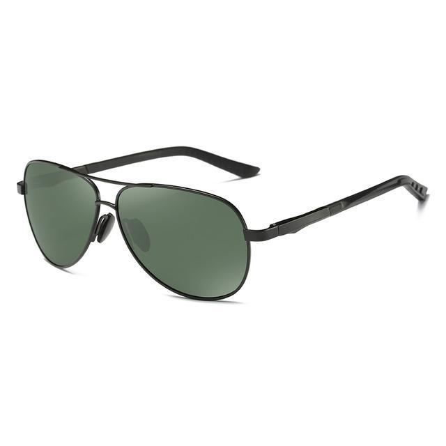 Elitera Aluminum Magnesium Polarized Sunglasses Men Design Fishing Driving Sun-Polarized Sunglasses-Bargain Bait Box-Black Green-China-Bargain Bait Box