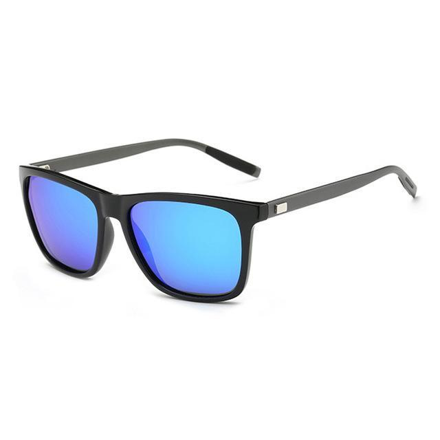 Elitera Aluminum Polarized Sunglasses Men Sport Vintage Sun Glasses Eyewear-Polarized Sunglasses-Bargain Bait Box-Black Blue-Bargain Bait Box