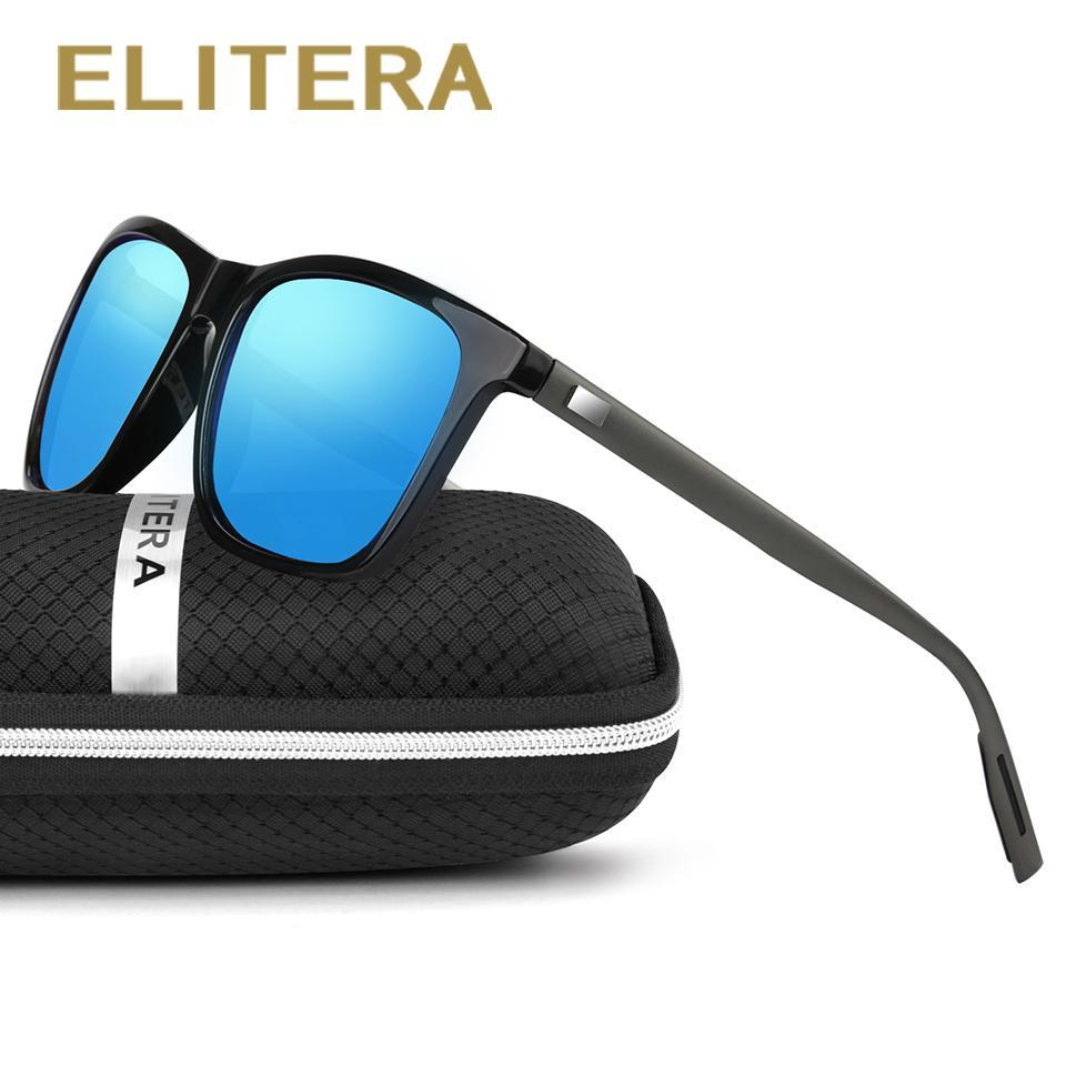 Elitera Aluminum Polarized Sunglasses Men Sport Vintage Sun Glasses Eyewear-Polarized Sunglasses-Bargain Bait Box-Black Dark Green-Bargain Bait Box