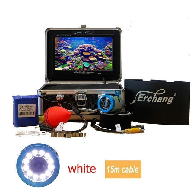 "Erchang Ice Underwater Fishing Camera Fish Finder In English 1000Tvl 7"" Color-Underwater Cameras-Bargain Bait Box-China-15m white led-Bargain Bait Box"