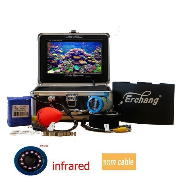 "Erchang Ice Underwater Fishing Camera Fish Finder In English 1000Tvl 7"" Color-Underwater Cameras-Bargain Bait Box-China-30m IR led-Bargain Bait Box"