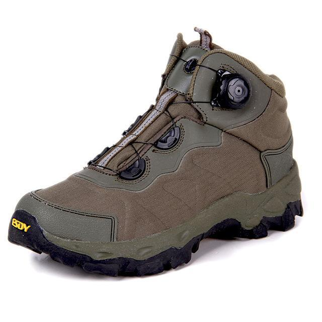 Esdy Men Hiking Boots Lacing System Boots Military Tactical Combat Waterproof-TAP Outdoor Products Mall-Green-6.5-Bargain Bait Box