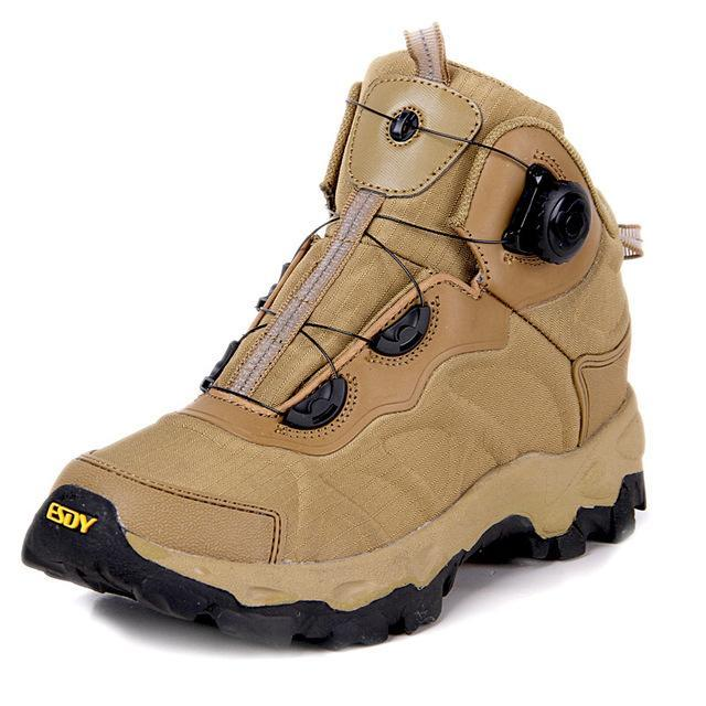 Esdy Men Hiking Boots Lacing System Boots Military Tactical Combat Waterproof-TAP Outdoor Products Mall-Yellow-6.5-Bargain Bait Box