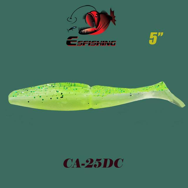 "Esfishing Fishing Lure Soft Bait One Up Shad Easy Shiner 5"" 4Pcs 12.5Cm/18.5G-Esfishing Lure Store-CA25DC-Bargain Bait Box"