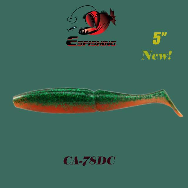 "Esfishing Fishing Lure Soft Bait One Up Shad Easy Shiner 5"" 4Pcs 12.5Cm/18.5G-Esfishing Lure Store-CA78DC-Bargain Bait Box"
