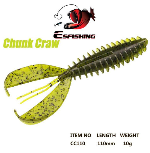 "Esfishing Soft Bait Chunk Craw 4.3"" 6Pcs 11Cm/10G Fishing Soft S For Trolling-Creatures-Bargain Bait Box-PA05-Bargain Bait Box"
