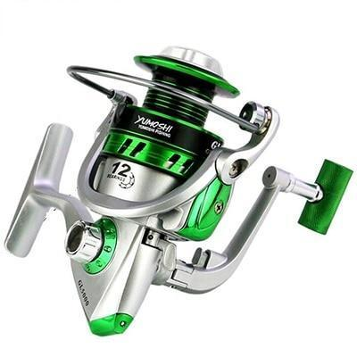 Est 12Bb Ball Bearings Spinning Fishing Reel Gl 5.5:1 Right/Left Metal-Fishing Reels-HUDA Outdoor Equipment Store-Silver-1000 Series-Bargain Bait Box
