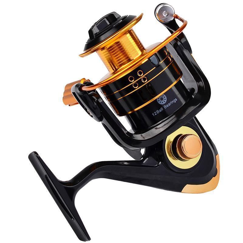 Est 12Bb Ball Bearings Type Fishing Reels 5.2:1 Gear Ratio Left Right-Spinning Reels-GOGOGO Outdoor Store-1000 Series-Bargain Bait Box
