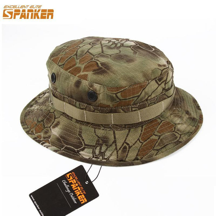 Excellent Elite Spanker Military Bucket Hats Camo Mens Female Male Hat Wide Brim-Hats-Bargain Bait Box-BLK-Bargain Bait Box