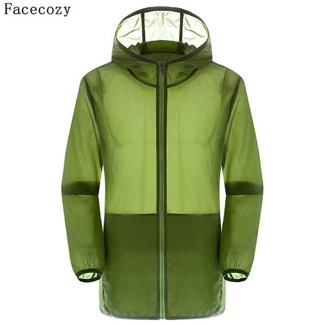 Facecozy Lovers Camping Jacket Women Hooded Transparent Quick Dry Coat Anti Uv-Jackets-Bargain Bait Box-army green-S-Bargain Bait Box