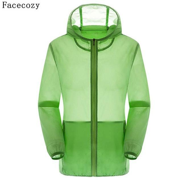 Facecozy Lovers Camping Jacket Women Hooded Transparent Quick Dry Coat Anti Uv-Jackets-Bargain Bait Box-candy green-S-Bargain Bait Box