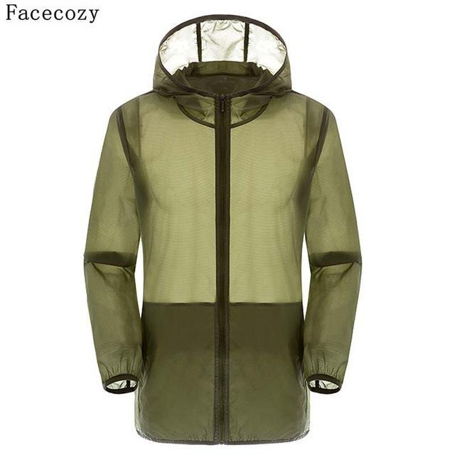 Facecozy Lovers Camping Jacket Women Hooded Transparent Quick Dry Coat Anti Uv-Jackets-Bargain Bait Box-dark green-S-Bargain Bait Box