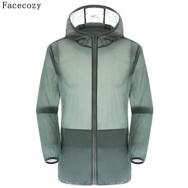 Facecozy Lovers Camping Jacket Women Hooded Transparent Quick Dry Coat Anti Uv-Jackets-Bargain Bait Box-gray-S-Bargain Bait Box