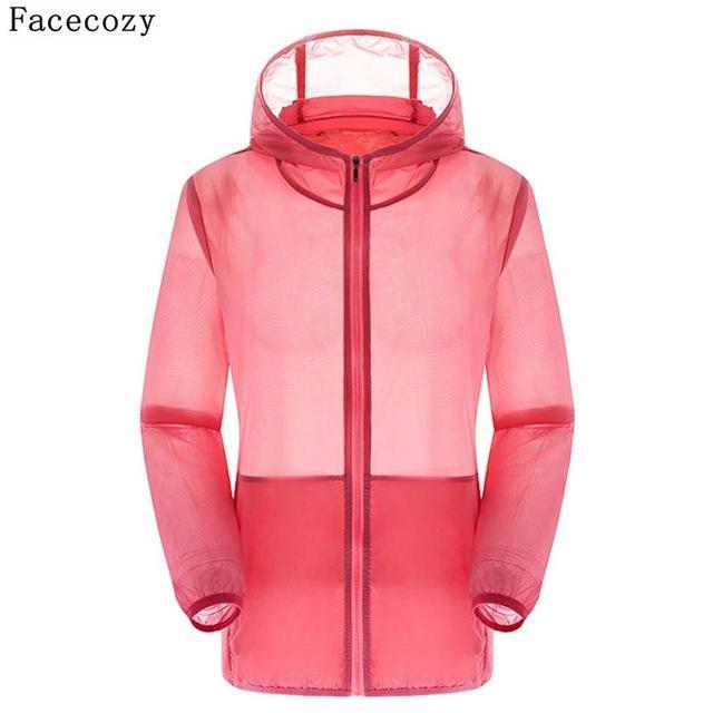Facecozy Lovers Camping Jacket Women Hooded Transparent Quick Dry Coat Anti Uv-Jackets-Bargain Bait Box-watermelon red-S-Bargain Bait Box