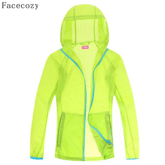 Facecozy Lovers Quick Dry Fishing Shirt Women Hooded Solid Color Transparent-Hoodies-Bargain Bait Box-women candy green-S-Bargain Bait Box