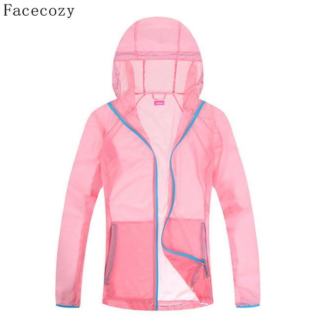 Facecozy Lovers Quick Dry Fishing Shirt Women Hooded Solid Color Transparent-Hoodies-Bargain Bait Box-women light pink-S-Bargain Bait Box