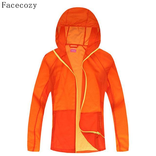 Facecozy Lovers Quick Dry Fishing Shirt Women Hooded Solid Color Transparent-Hoodies-Bargain Bait Box-women orange yellow-S-Bargain Bait Box