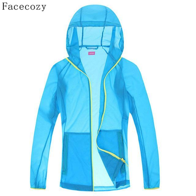 Facecozy Lovers Quick Dry Fishing Shirt Women Hooded Solid Color Transparent-Hoodies-Bargain Bait Box-women sky blue-S-Bargain Bait Box