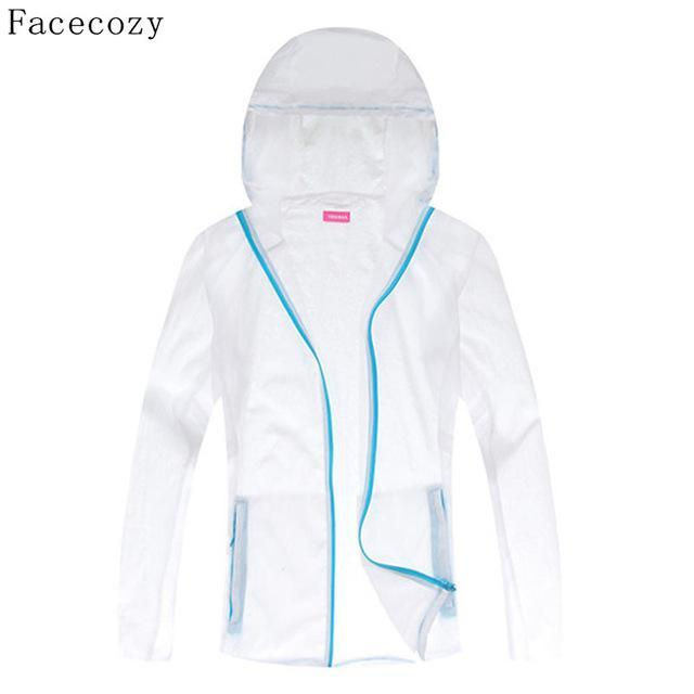 Facecozy Lovers Quick Dry Fishing Shirt Women Hooded Solid Color Transparent-Hoodies-Bargain Bait Box-women white-S-Bargain Bait Box