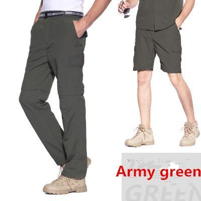 Facecozy Men Pants Couples Removable Camping Pants Pants Breathable-Pants-Bargain Bait Box-Men Army Green-S-Bargain Bait Box