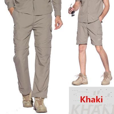 Facecozy Men Pants Couples Removable Camping Pants Pants Breathable-Pants-Bargain Bait Box-Men Khaki-S-Bargain Bait Box