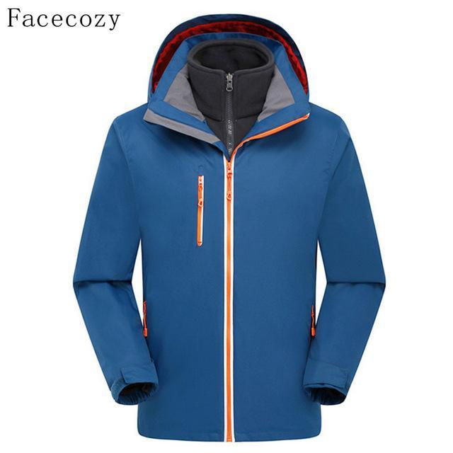 Facecozy Men'S Quick Dry Softshell Jacket Breathable Front Zipper Hooded-Jackets-Bargain Bait Box-peacock blue-S-Bargain Bait Box