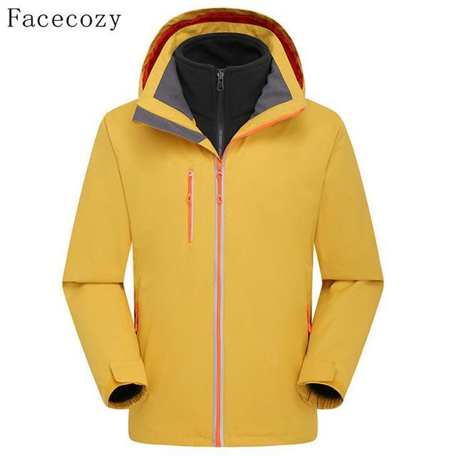 Facecozy Men'S Quick Dry Softshell Jacket Breathable Front Zipper Hooded-Jackets-Bargain Bait Box-yellow-S-Bargain Bait Box