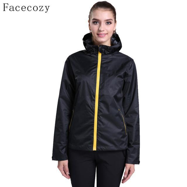 Facecozy Women Breathable Solid Color Fishing Softshell Jacket Female-Jackets-Bargain Bait Box-women black-S-Bargain Bait Box