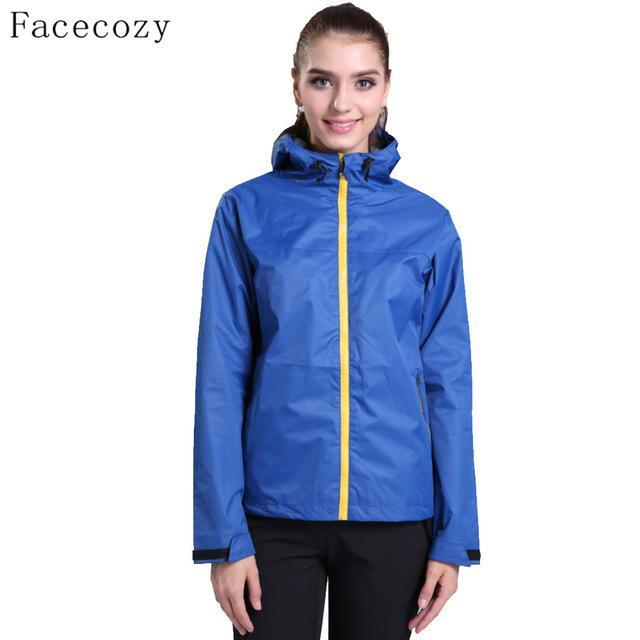 Facecozy Women Breathable Solid Color Fishing Softshell Jacket Female-Jackets-Bargain Bait Box-women diamond blue-S-Bargain Bait Box