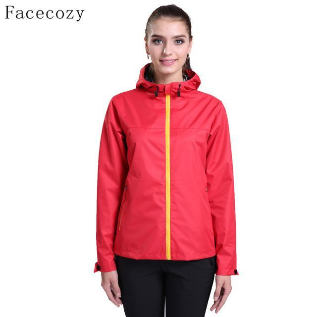 Facecozy Women Breathable Solid Color Fishing Softshell Jacket Female-Jackets-Bargain Bait Box-women red-S-Bargain Bait Box