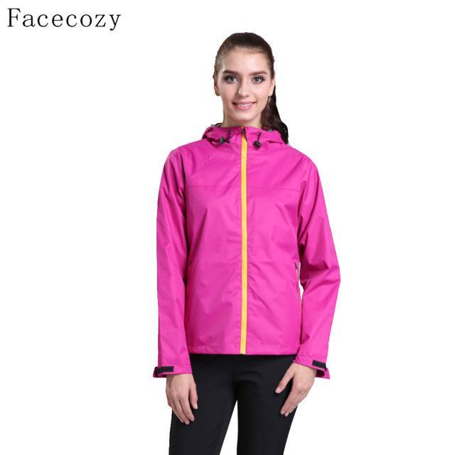 Facecozy Women Breathable Solid Color Fishing Softshell Jacket Female-Jackets-Bargain Bait Box-women rose red-S-Bargain Bait Box