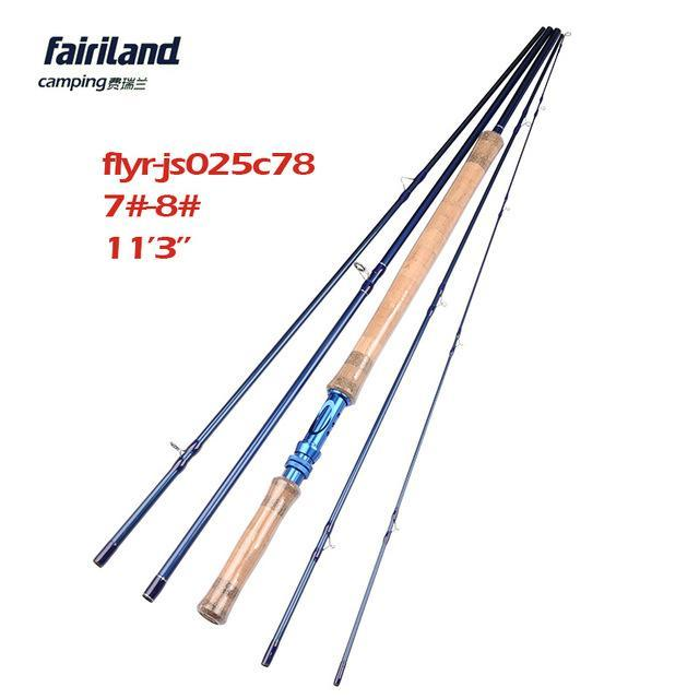 Fairiland 5 Sections 11.2Ft Fly Fishing Rod 6#/7#/8#/9# Saltwater/Freshwater-Fly Fishing Rods-Bargain Bait Box-Blue-Bargain Bait Box