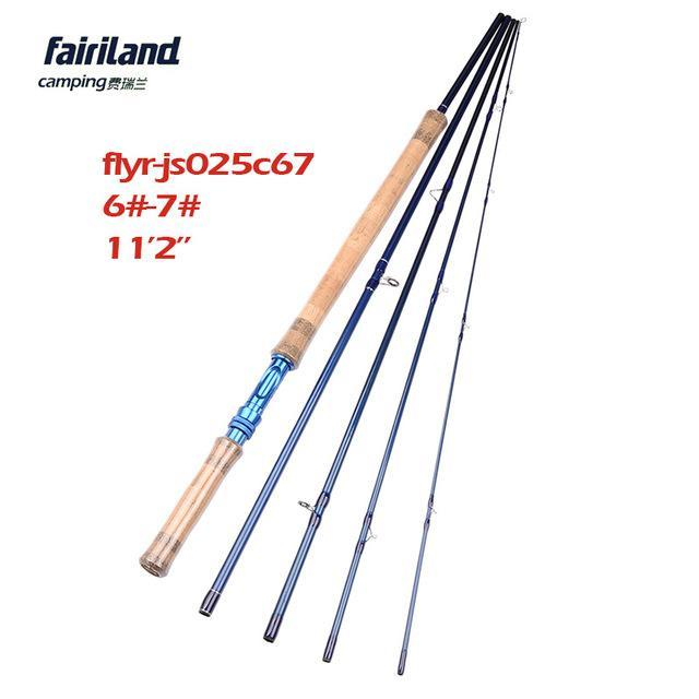 Fairiland 5 Sections 11.2Ft Fly Fishing Rod 6#/7#/8#/9# Saltwater/Freshwater-Fly Fishing Rods-Bargain Bait Box-White-Bargain Bait Box