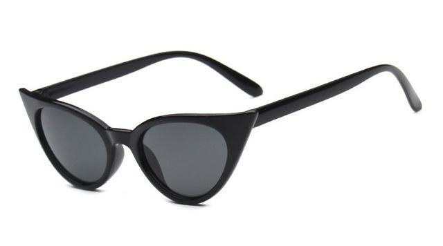 Fashion Cat Eye Sunglasses For Women Brand Designer Vintage-Sunglasses-Daily Lives Store-glossy black small-Bargain Bait Box