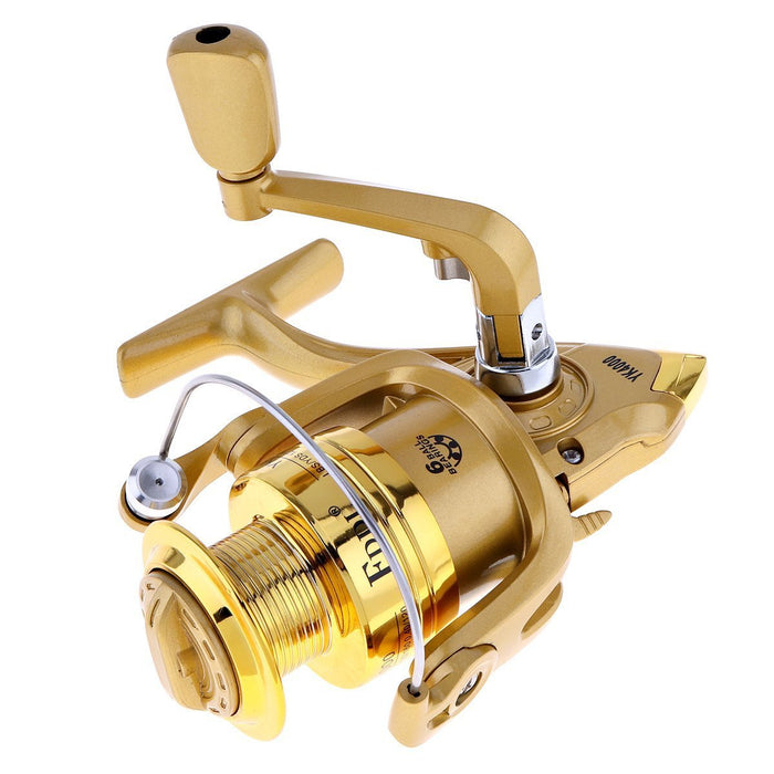 Fddl 4000 Series 6Bb Spinning Fishing Reel 5.2:1 Plating Golden Color Left/Right-Spinning Reels-FirstSport Store-Bargain Bait Box