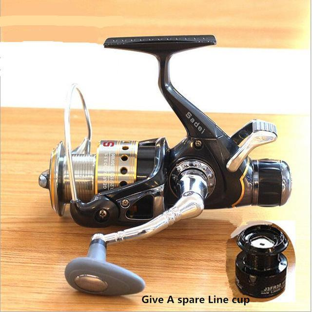 Fddl Brand 3000 Type 8+1Bb Metal Front Back Drag Spinning Fishing Reel Body Spin-Spinning Reels-DAWO Trading Co., Ltd. Store-Bargain Bait Box