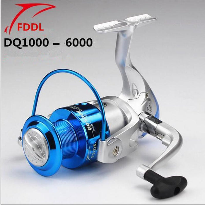 Fddl Brand Dq2000-6000 Type 6 Axis Plastic Plating Fishing Reel Silvery-Spinning Reels-DAWO Trading Co., Ltd. Store-1000 Series-Bargain Bait Box