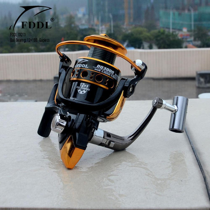 Fddl Fishing 12+1Bb 5.2:1/ 5.1:1 1000-6000 Series Full Metal Spool Hot Sale-Spinning Reels-RedMeet Fishing Store-1000 Series-Bargain Bait Box