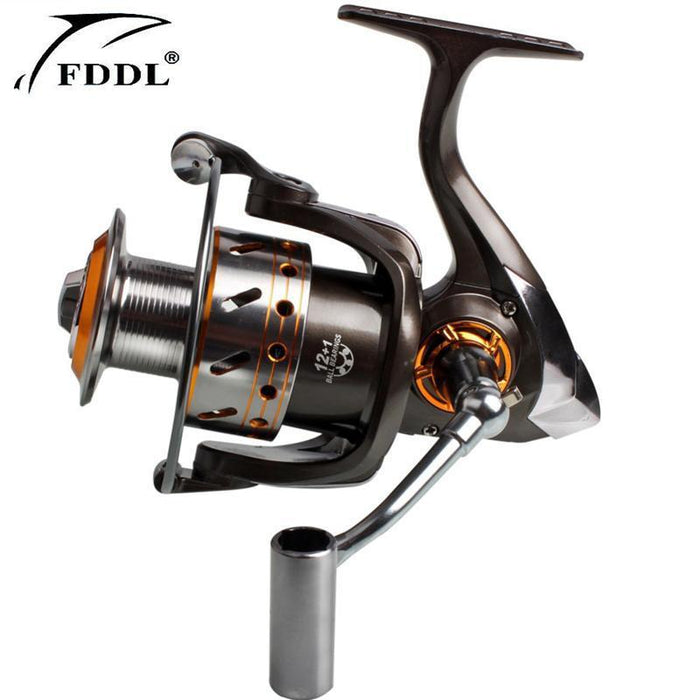 Fddl Grey High End Full Metal Aluminum Coil High Speed 5.2: 1 Dk3000 - 6000 13Bb-Spinning Reels-Outdoor Sports & fishing gear-1000 Series-Bargain Bait Box