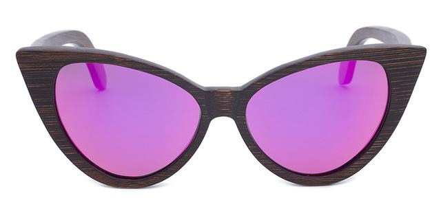 Female Brown Sunglasses Women Cat Eye Eyewear Gradient Uv400 Polarized Sun-Sunglasses-GreenBuy Store-Purple Lens-Bargain Bait Box
