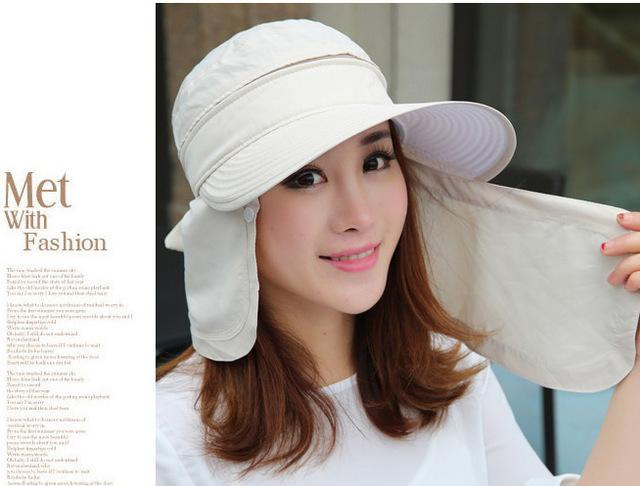 Female Removable Quick Dry Sun Hat Womens Face Uv Protection Fishing Bucket-Anti-Mosquito-Bargain Bait Box-beige-S-Bargain Bait Box