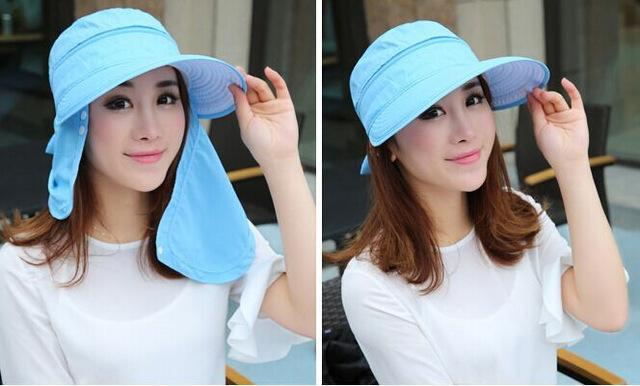 Female Removable Quick Dry Sun Hat Womens Face Uv Protection Fishing Bucket-Anti-Mosquito-Bargain Bait Box-blue-S-Bargain Bait Box