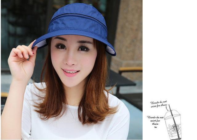 Female Removable Quick Dry Sun Hat Womens Face Uv Protection Fishing Bucket-Anti-Mosquito-Bargain Bait Box-navy-S-Bargain Bait Box