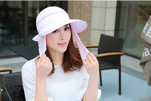 Female Removable Quick Dry Sun Hat Womens Face Uv Protection Fishing Bucket-Anti-Mosquito-Bargain Bait Box-pink-S-Bargain Bait Box