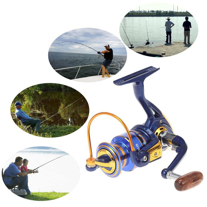 Fh1000-7000 Series 12 + 1Bb Spinning Fishing Reel Interchanged Left Right Hand-Spinning Reels-Aslongdeal Store-1000 Series-Bargain Bait Box
