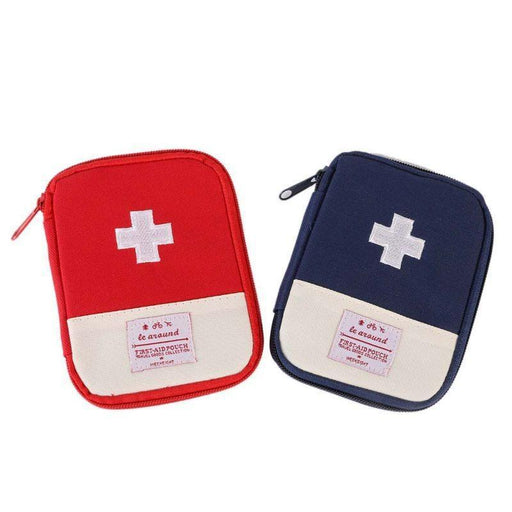 First Aid Emergency Medical Survival Kit Wrap Gear Bag To Hunt Small Medicine-Survival Gear-Bargain Bait Box-Blue-Bargain Bait Box