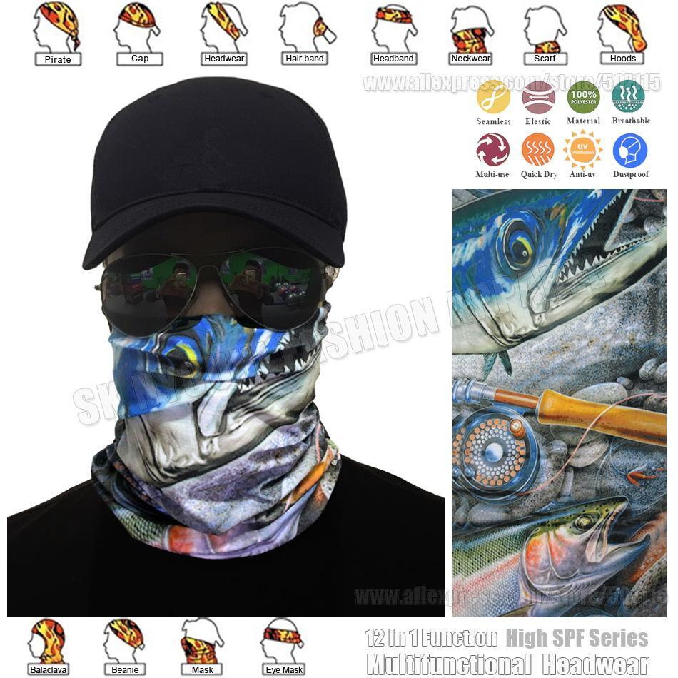 Fish Bandana Seamless Tube Scarf Fishing Balaclava Headwear Multi Functional-Face Shields-Bargain Bait Box-Bargain Bait Box