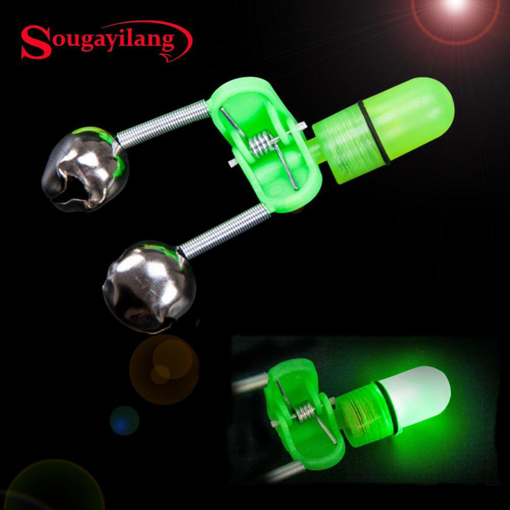Fish Bite Alarm 10Pcs/Lot Led Light Fishing Alarm Clip Alerter Fishing Bells Rod-Bite Alarms-Bargain Bait Box-Bargain Bait Box